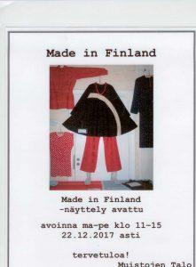 Made in Finland -näyttely (2017)